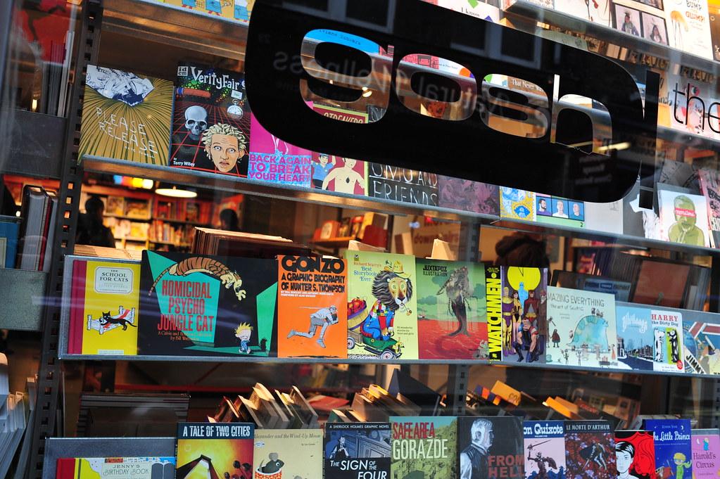 gosh comic bookshop Berwick Street Soho