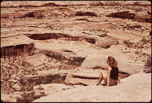 White canyon near Sipapu Bridge. Natural Bridges National Monument, 05/1972.