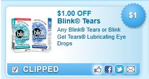 Blink Tears Or Blink Gel Tears Lubricating Eye Drops  Coupon