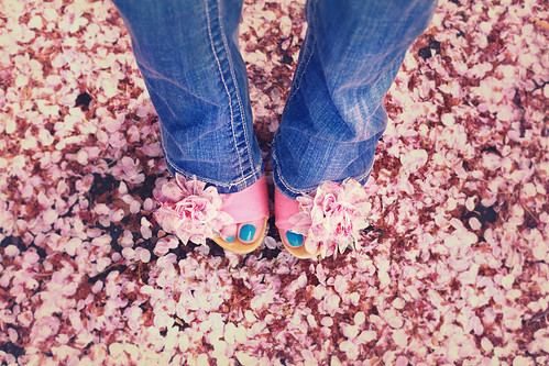 My heels matched the petals!!