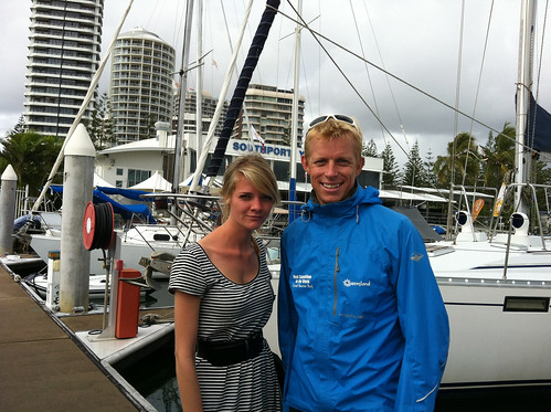 Jess Watson and Ben at Season of Sailing launch 2012