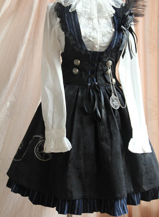 Infanta_Flower_of_Time_Button_Corduroy_Lolita_Sundress_1