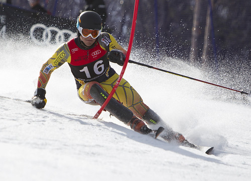 Phil Brown during the Audi Nor-Am Cup slalom in Mont-Sainte-Anne, Que.