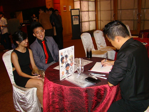 Caricature live sketching for Serangoon Junior College Prom Night - l