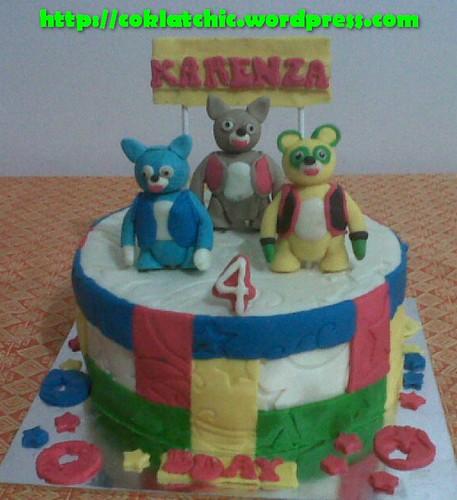 Kue ulang tahun dengan tema Cake Spesial Agent Oso model ini mulai