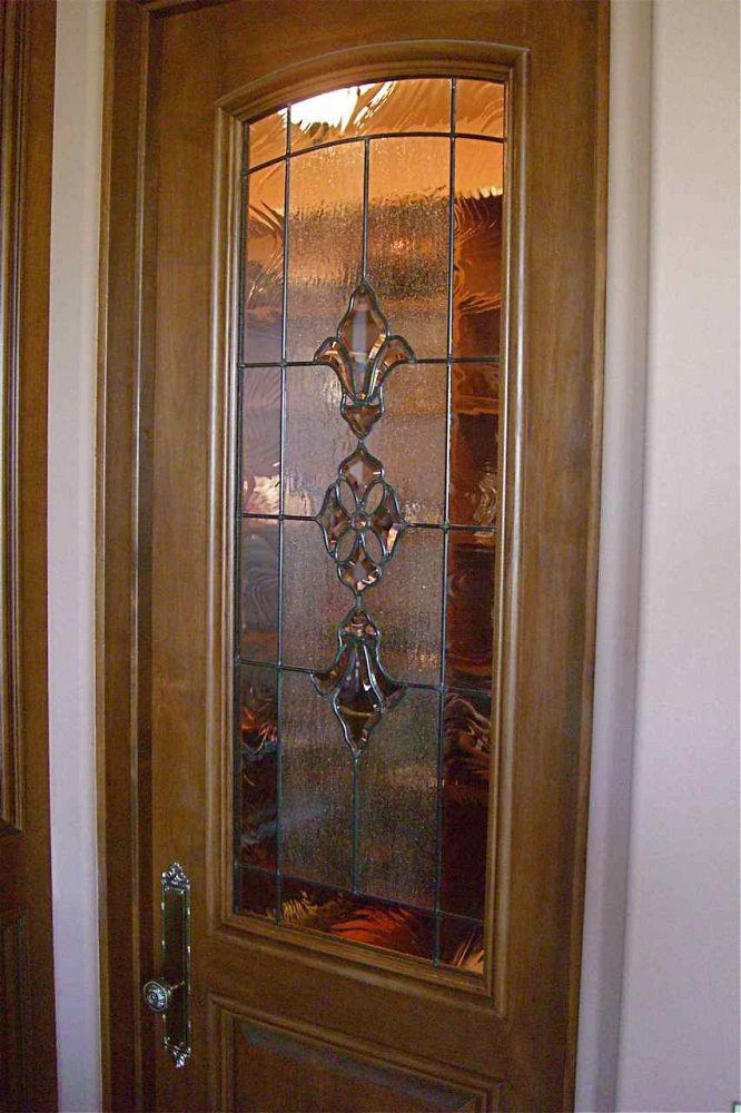 Stained Glass Window Pantry Door Bevel Clusters A Photo