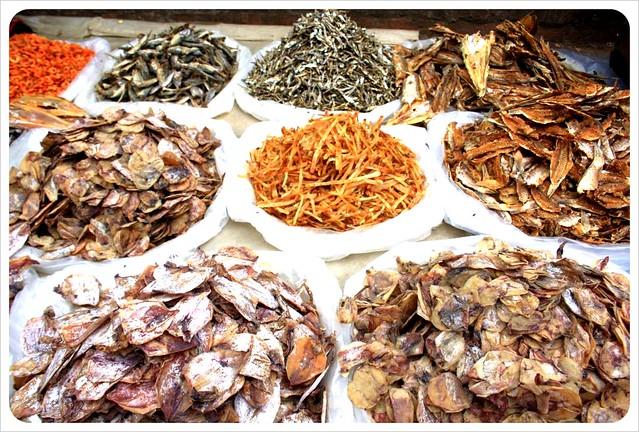 luang prabang morning market dried fish