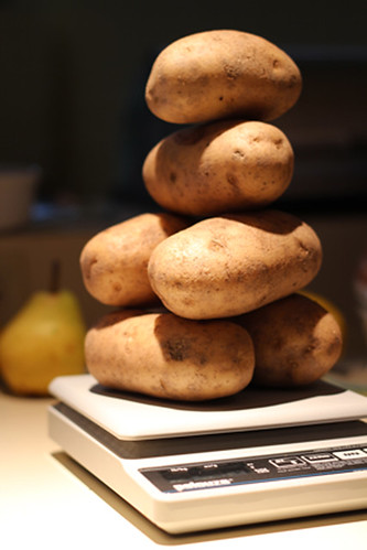 Potatoes Balancing on the Scale