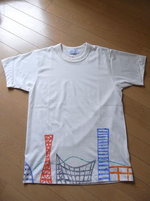 手描きTシャツ 神戸の風景2