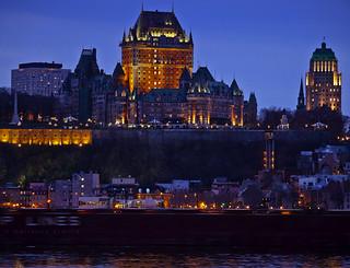 Québec City at dusk