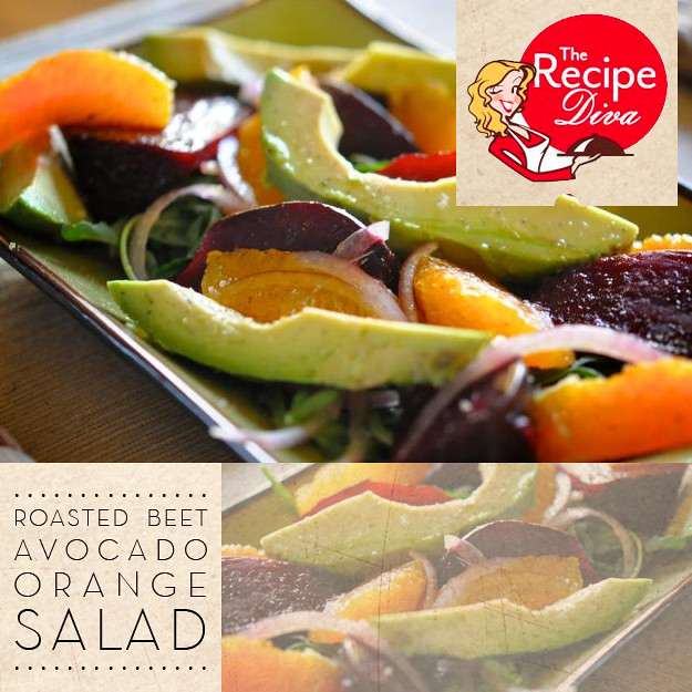 The Recipe Diva // Beet Avocado Orange Salad