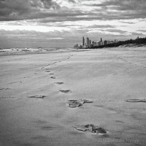 Queensland sunrise in monochrome by andiwolfe (Jet-lagged)