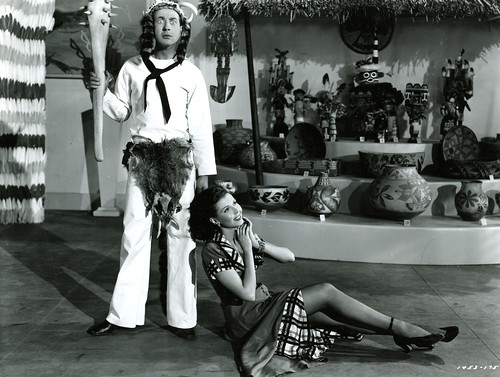 Jules Has The Jitters: Jules Munshin and Ann Miller in the Prehistoric Man number from  ON THE TOWN (1949)