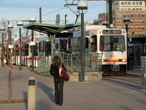 light rail in Denver (by: Kyle Gradinger, creative commons license)