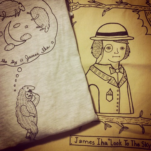 Got my package of a tee and tote bag design/drawing I did with James Iha by Michael C. Hsiung