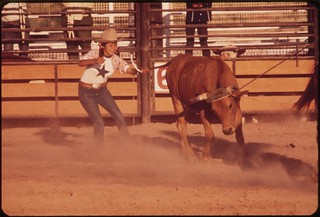"""""""Junior rodeo"""" is sponsored by the Parker Indian Rodeo Association and takes place on the Colorado River Indian Reservation, May 1972"""