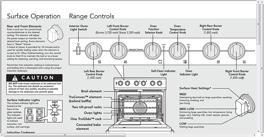 Viking Induction Range Quick Reference Guide