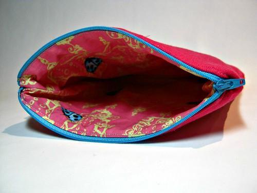pink pouch interior