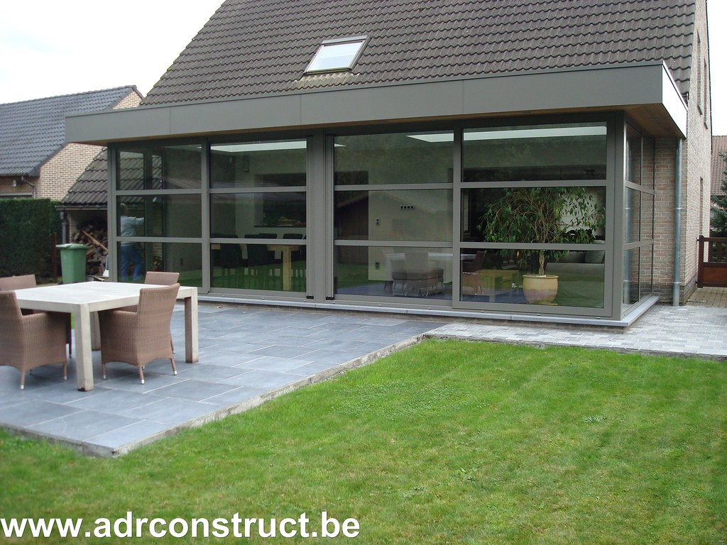 Veranda modern uitbouw leefruimte ral m veranda moderu flickr