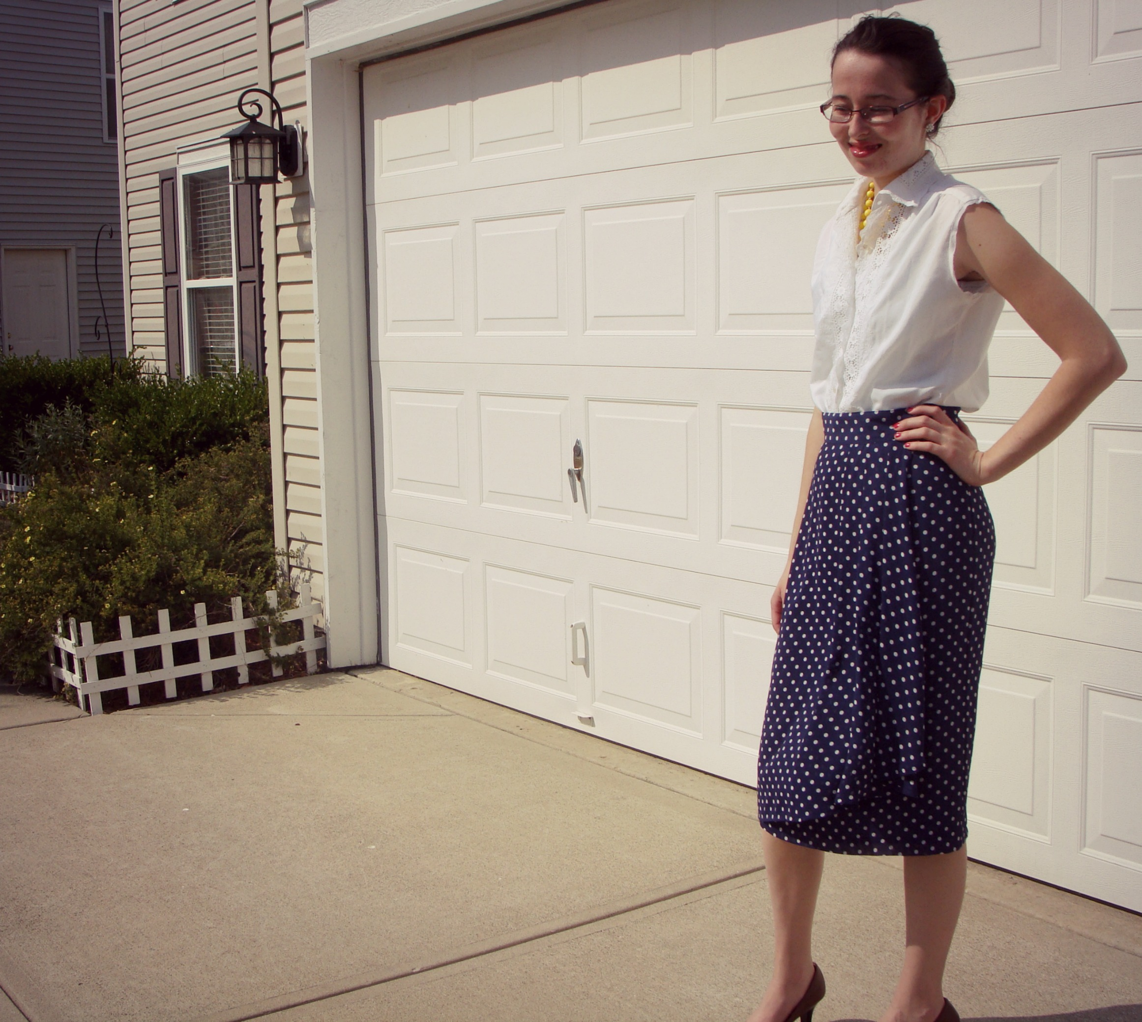 What I Wore - Polkadots & Lace