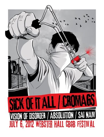 07-06-2012 Sick Of It All/Cro-Mags/Vision Of Disorder/Absolution/Sai Nam @ Webster Hall, NYC, NY