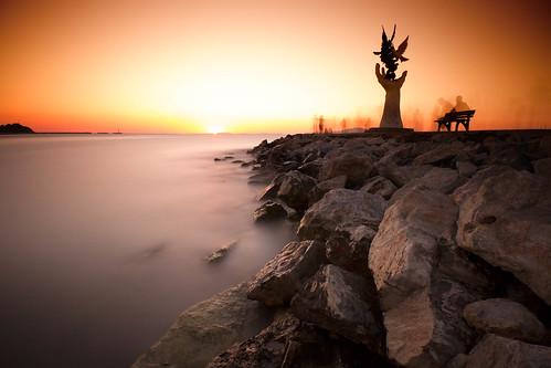 longexposure sunset seascape kuşadası
