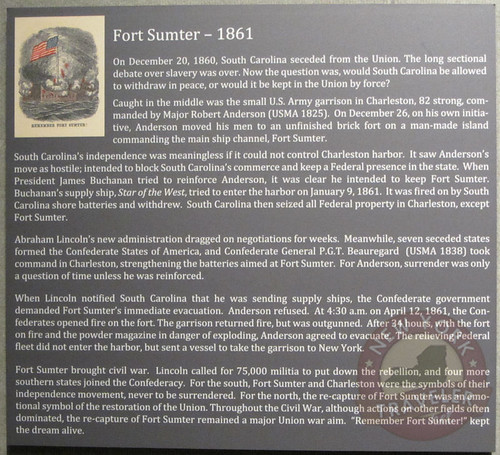 Fort Sumter Plaque