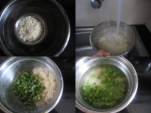Peas Pulao-step1