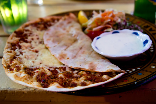 Lahmacun at Restaurant Bazar
