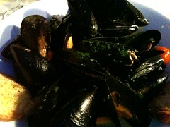 Bowl of Venetian Mussels at Ristorante Ribot