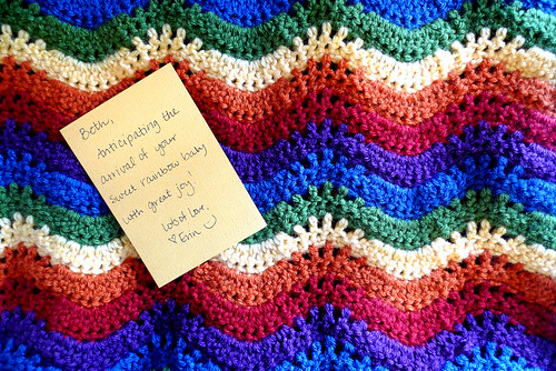 a rainbow blanket for our baby