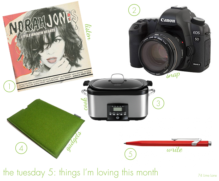 {the tuesday 5} things I'm loving in July