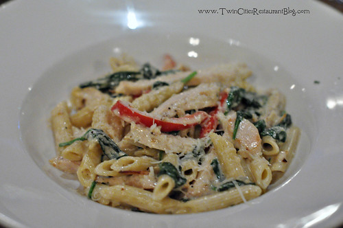 Penne with Chicken, Spniach and Peppers at Union Hotel Restaurant ~ Santa Rosa, CA