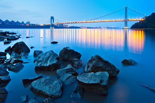 Early Morning Blue Hour at the George Washington Bridge