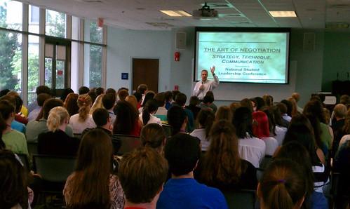 Dr. Paul Lisnek presents on The Art of Negotiation