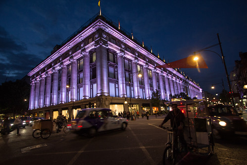 Selfridge's - Oxford Street at night