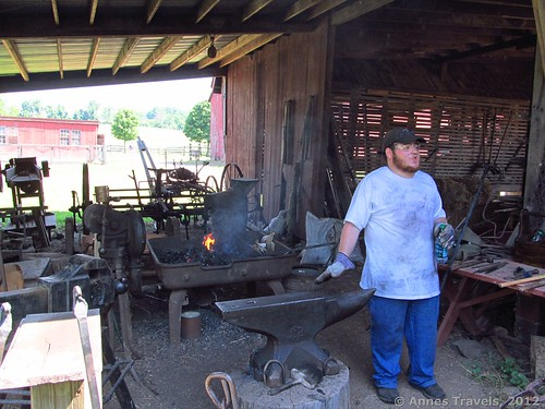 The blacksmith at Howell Living History Farm, Lambertville, New Jersey