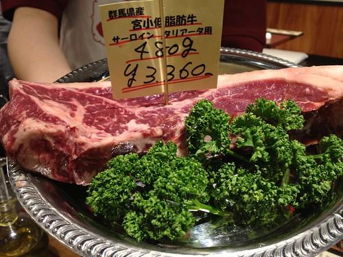 サーロインステーキはグラム売り@肉屋直営 小松屋 日銀通り店