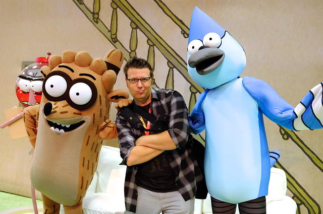 chilling with Rigby and Mordecai