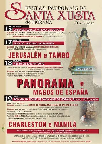 Moraña 2012 - Festas de Santa Xusta - cartel