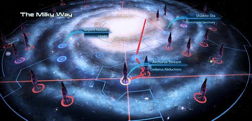Mass Effect Star Map.Exploring The Galaxy With Mass Effect 3 Nasa Blueshift