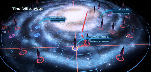 Mass Effect 3: Milky Way Galaxy Map | Image provided by EA ...