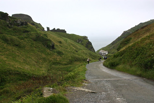 The Trail down to the Tintagel Castle English Heritage site