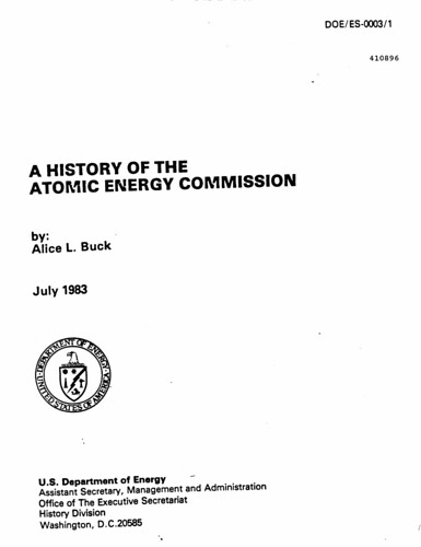 A History of the Atomic Energy Commission