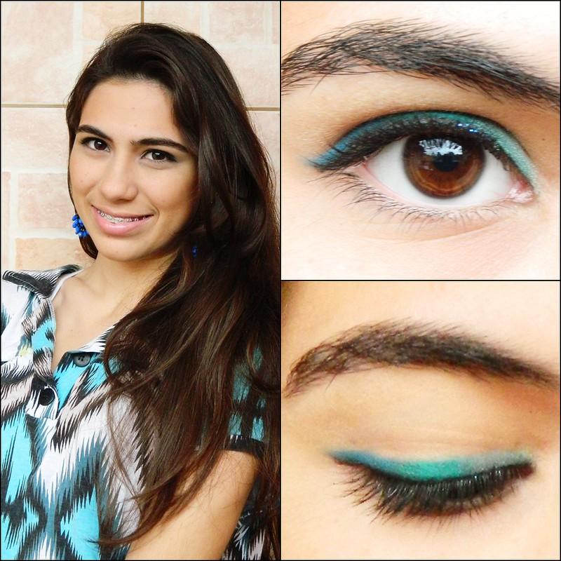 juliana leite make up maquiagem dia #2 delineado colorido montagem 1