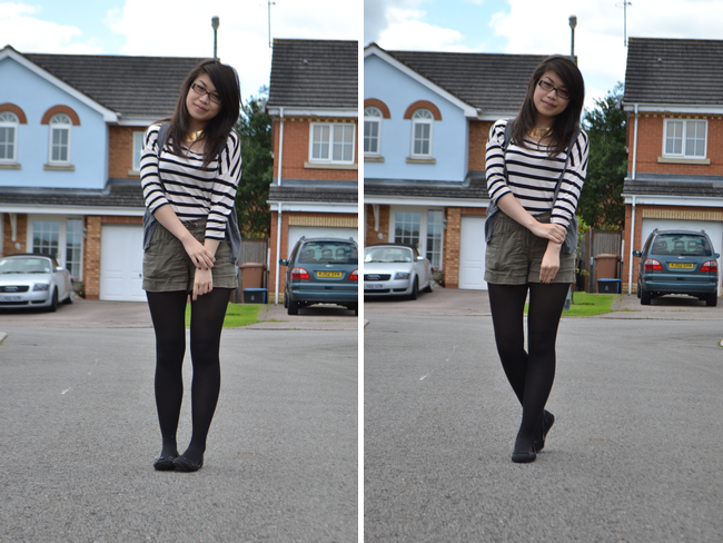 daisybutter - UK Style and Fashion Blog: what i wore, how they wore, ootd, wiwt, stripes, H&M, forever 21, SS12
