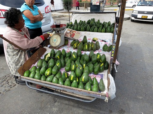 Avocados outside Mercado La Libertad