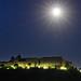 La prestigiosa Abbazia di Montecassino nel chiarore della luna piena, Cassino, Frosinone, Lazio, Italia by sognatore58