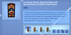 Le Cirque Esprit- Muscles Mascardo and his Band of Misfits Wall Poster