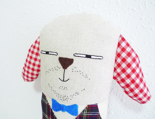 Dog Plush with Goatee